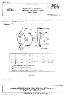 Reflektory główne samochodowe - Elementy optyczne okrągłe - Główne wymiary BN-78/3685-03