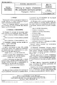 Odlewy ze stopów aluminium dla przemysłu motoryzacyjnego - Wymagania i badania BN-79/3610-03