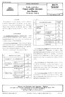 Pojazdy samochodowe - Cięgna giętkie sterujące typu Bowden - Wymagania i badania BN-79/3616-06