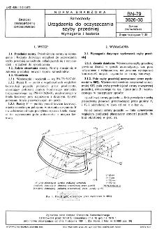 Samochody - Urządzenia do oczyszczania szyby przedniej - Wymagania i badania BN-79/3626-03