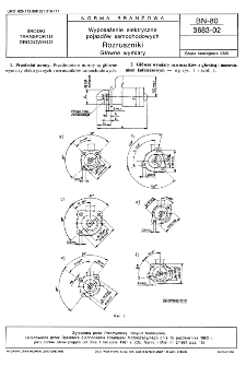 Wyposażenie elektryczne pojazdów samochodowych - Rozruszniki - Główne wymiary BN-80/3683-02