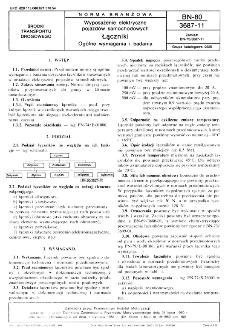 Wyposażenie elektryczne pojazdów samochodowych - Łączniki - Ogólne wymagania i badania BN-80/3687-11