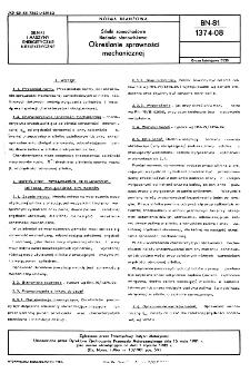 Silniki samochodowe - Badania stanowiskowe - Określanie sprawności mechanicznej BN-81/1374-08