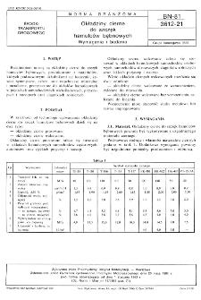 Okładziny cierne do szczęk hamulców bębnowych - Wymagania i badania BN-81/3612-21