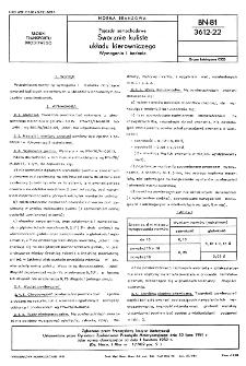 Pojazdy samochodowe - Sworznie kuliste układu kierowniczego - Wymagania i badania BN-81/3612-22