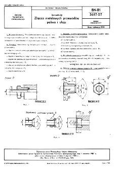 Samochody - Złącza metalowych przewodów paliwa i oleju BN-81/3617-07