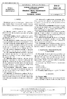 Instalacja elektryczna pojazdów samochodowych - Obudowy złączy wtyczkowych płaskich - Wymagania i badania BN-81/3687-26