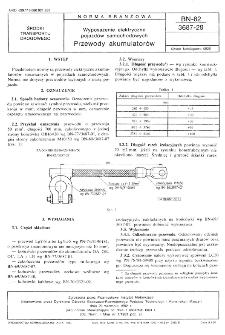 Wyposażenie elektryczne pojazdów samochodowych - Przewody akumulatorów BN-82/3687-29