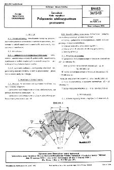 Samochody - Wały napędowe - Połączenia wielowypustowe przesuwne BN-83/3612-13