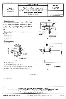 Pojazdy samochodowe i przyczepy - Zawory odwadniające zbiorników sprężonego powietrza - Główne wymiary BN-83/3617-10