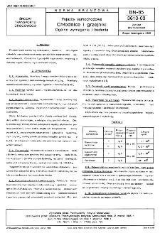 Pojazdy samochodowe - Chłodnice i grzejniki - Ogólne wymagania i badania BN-85/3613-03