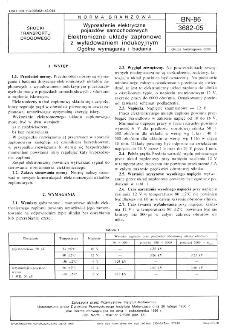 Wyposażenie elektryczne pojazdów samochodowych - Elektroniczne układy zapłonowe z wyładowaniem indukcyjnym - Ogólne wymagania i badania BN-86/3682-05