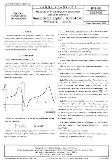 Wyposażenie elektryczne pojazdów samochodowych - Rozdzielacze zapłonu bezstykowe - Wymagania i badania BN-88/3682-06