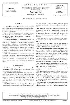 Wyposażenie elektryczne pojazdów silnikowych - Rozruszniki - Wymagania i badania BN-88/3683-01