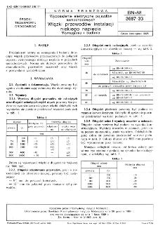Wyposażenie elektryczne pojazdów samochodowych - Wiązki przewodów instalacji niskiego napięcia - Wymagania i badania BN-88/3687-33