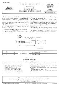 Samochody - Cięgna giętkie sterujące dwukierunkowe BN-89/3616-05
