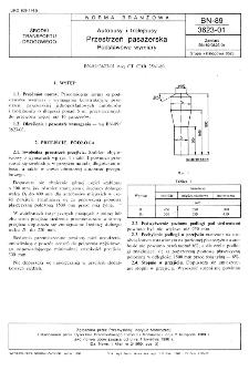Autobusy i trolejbusy - Przestrzeń pasażerska - Podstawowe wymiary BN-89/3623-01