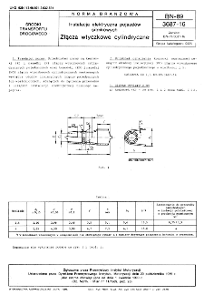 Instalacja elektryczna pojazdów silnikowych - Złącza wtyczkowe cylindryczne BN-89/3687-16