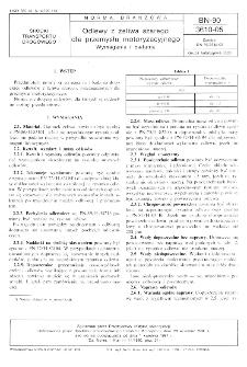 Odlewy z żeliwa szarego dla przemysłu motoryzacyjnego - Wymagania i badania BN-90/3610-05