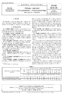 Odlewy staliwne dla przemysłu motoryzacyjnego - Wymagania i badania BN-90/3610-09