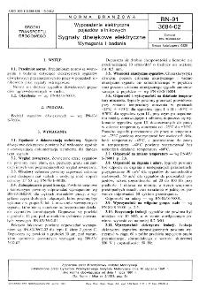 Wyposażenie elektryczne pojazdów silnikowych - Sygnały dźwiękowe elektryczne - Wymagania i badania BN-91/3684-02