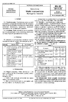 Samochody - Wałki kierownicze - Wymagania i badania BN-92/3612-20