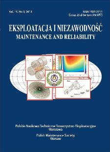 Eksploatacja i Niezawodność = Maintenance and Reliability Vol. 15 No. 3, 2013