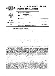 Sposób i urządzenie do modyfikacji własności wody, wodnych roztworów i mieszanin : opis patentowy patentu tymczasowego nr 100586