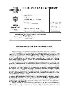 Sposób wytwarzania zbrojenia do betonu i innych kamieni sztucznych : opis patentowy nr 100602