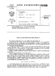 Sposób usuwania tlenków azotu z gazów odlotowych : opis patentowy nr 115926