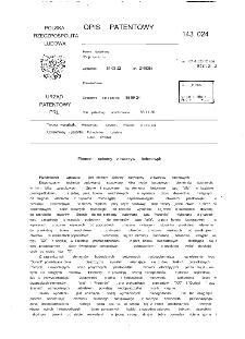 Element ścienny z tworzyw betonowych : opis patentowy nr 143024