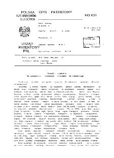 Sposób i urządzenie do wytwarzania sprężonych elementów strunobetonowych : opis patentowy nr 143631