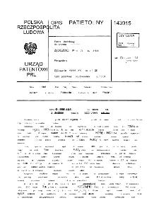 Sposób regeneracji kapieli do trawienia stali z jednoczesną produkcją szczawianów żelaza : opis patentowy nr 143915