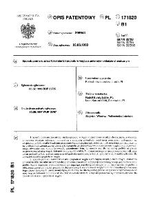 Sposób pomiaru zawartości siarki i popiołu w węglu o zmiennym składzie chemicznym : opis patentowy nr 171820