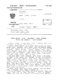 Sposób stabilizacji kurzawki i nawodnionych gruntów ziarnistych zwłaszcza przy wykonywaniu szybów górniczych : opis patentowy nr 149038