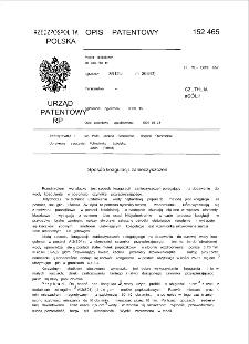 Sposób koagulacji zanieczyszczeń : opis patentowy nr 152465
