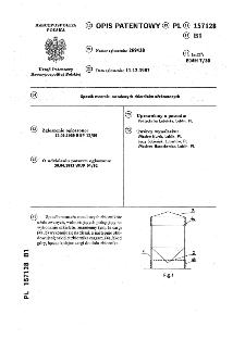 Sposób montażu metalowych zbiorników użebrowanych : opis patentowy nr 157128