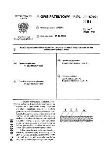 Sposób wytwarzania i układania darniny, zwłaszcza do pokryć skarp i zbrojona darnina zwłaszcza do pokrycia skarp : opis patentowy nr 159701