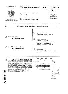 Układ selekcji urobku w kopalniach, zwłaszcza pod ziemią : opis patentowy nr 175173