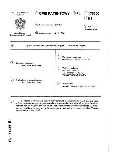Sposób oczyszczania gazów wentylacyjnych z dwusiarczku węgla : opis patentowy nr 175256