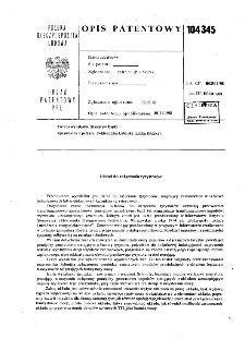 Układ do załączania tyrystorów : opis patentowy nr 104345