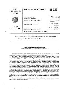 Sposób elektrochemicznego wytwarzania rozpuszczalnych związków kompleksowych metali : opis patentowy nr 109025