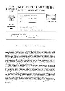 Układ samowzbudny hamowania silnika pierścieniowego : opis patentowy patentu tymczasowego nr 109634