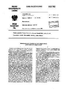 Miernik parametrów charakterystycznych obiegu histerezy próbek materiałów magnetycznych : opis patentowy nr 112752