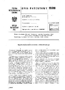 Sposób otrzymywania wersenianu sodowo-żelazowego : opis patentowy nr 115918