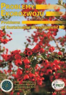 Problemy Ekorozwoju : studia filozoficzno-sozologiczne Vol. 4, Nr 1, 2009