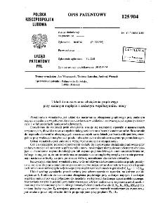 Układ do nastawiania obciążenia prądowego przy zadanym napięciu i zadanym współczynniku mocy : opis patentowy nr 125904