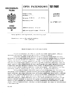 Układ do badania materiałów magnetycznych : opis patentowy nr 151960