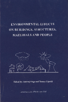 Environmental effects on buildings, structures, materials and people