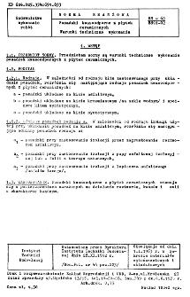 Posadzki kwasoodporne z płytek ceramicznych - Warunki techniczne wykonania BN-62/8841-02